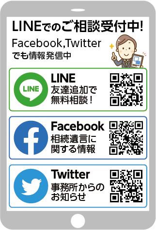 行政書士千田大輔事務所のSNSのQRコード一覧